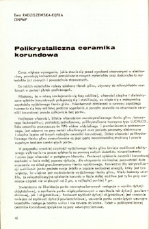 Polikrystaliczna ceramika korundowa = Polycrystalline alumina ceramic