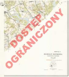 Powiat Ostróda : województwo olsztyńskie : skala 1:25 000