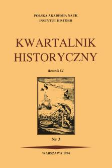 Kwartalnik Historyczny R. 101 nr 3 (1994), Listy do redakcji