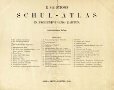 E. von Sydow Schul-Atlas in zwei und vierzig Karten