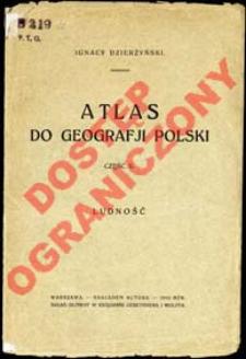 Atlas do geografji Polski. Cz. 2, Ludność