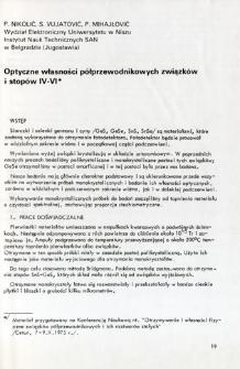 Optyczne własności półprzewodnikowych związków i stopów IV-VI