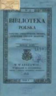 Biblioteka Polska : pamiętnik, umiejętnościom, historii, literaturze i rzeczom krajowym poświęcony. T. 1, nr 4 (1825)