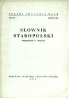 Słownik staropolski. T. 7 z. 5 (45), (Przypowiedzieć-Puszcza)