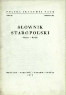 Słownik staropolski. T. 7 z. 6 (46), (Puszcza-Rodzić)