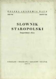 Słownik staropolski. T. 8 z. 1 (48), (Rozpróchnieć-Rzec)