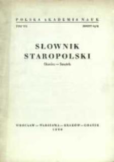 Słownik staropolski. T. 8 z. 4 (51), (Skociec-Smętek)