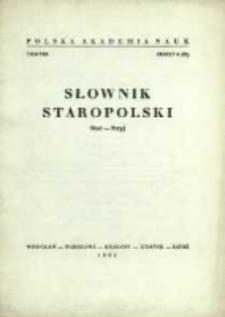 Słownik staropolski. T. 8 z. 6 (53), (Stać-Stryj)