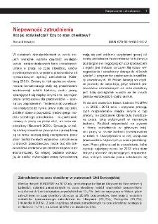Niepewność zatrudnienia : kto jej doświadcza?, Czy to stan chwilowy? : wybrane wyniki Polskiego Badania Panelowego POLPAN 1988-2013