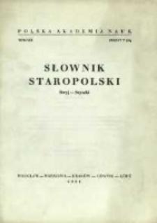 Słownik staropolski. T. 8 z. 7 (54), (Stryj-Szyszk)