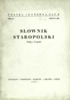 Słownik staropolski. T. 9 z. 4 (58), (Twój-Uczynić)