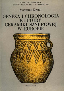 Geneza i chronologia kultury ceramiki sznurowej w Europie