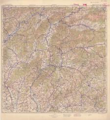 Polska, Czechosłowacja, Węgry Żilina - 7 M-34-XXV, XXVI, XXXI, XXXII