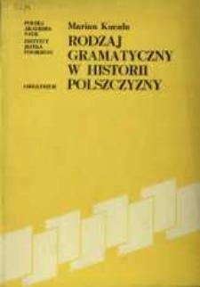 Rodzaj gramatyczny w historii polszczyzny