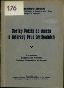 Dostęp Polski do morza a interesy Prus Wschodnich