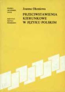 Przeciwstawienia kierunkowe w języku polskim