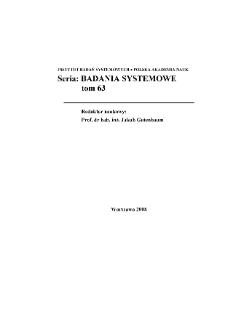 Badania operacyjne i systemowe: środowisko naturalne, przestrzeń, optymalizacja * Przestrzeń i transport * On measurement of sustainability and life quality in polish municipalities