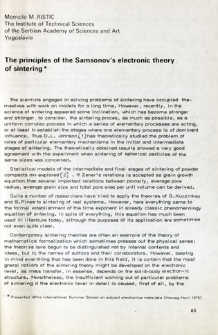 The principles of the Samsonov's electronic theory of sintering