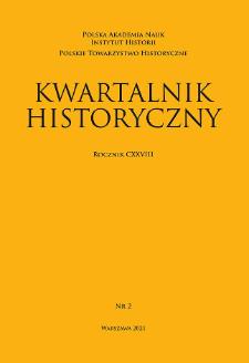 Kwartalnik Historyczny R. 128 nr 2 (2021), Recenzje