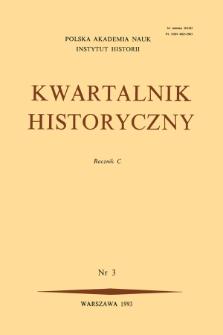 Kwartalnik Historyczny R. 100 nr 3 (1993), Listy do redakcji