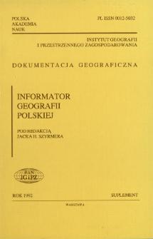 Informator geografii polskiej = Directory of geography in Poland