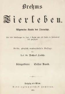 Brehms Tierleben : Die Säugetiere. Bd. 1-3 /