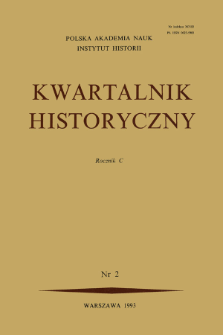 Kwartalnik Historyczny R. 100 nr 2 (1993), Title pages, Contents