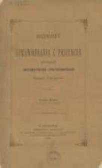 Rozprawy i Sprawozdania z Posiedzeń Wydziału Matematyczno-Przyrodniczego Akademii Umiejetności. vol. XVI