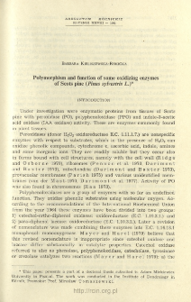 Polymorphism and function of some oxidizing enzymes of Scots pine (Pinus sylvestris L.)