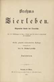 Brehms Tierleben: Die Insekten, Tausendfüsser und Spinnen. Bd. 9 /