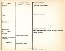 Kartoteka oceny histopatologicznej chorób układu nerwowego (1963) - opis nr 96/63