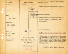 File of histopathological evaluation of nervous system diseases (1963) - nr 103/63