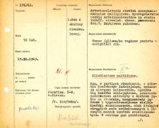 Kartoteka oceny histopatologicznej chorób układu nerwowego (1963) - opis nr 176/63