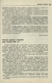 Praktyka naukowa w Kanadzie (maj-wrzesień 1984 r.)