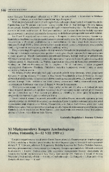 XI Międzynarodowy Kongres Arachnologiczny (Turku, Finlandia, 6-12 VIII 1989 r.)