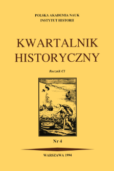 Kwartalnik Historyczny R. 101 nr 4 (1994), Recenzje