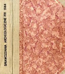 Sprawozdanie z badań wykopaliskowych prowadzonych w latach 1958-1962 w Stradowie, pow. Kazimierza Wielka