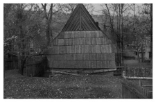 Gable roof in a polish highlanders cottage (Podhale region)