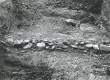 Fragment kamiennych fundamentów kościoła (kolegiaty)