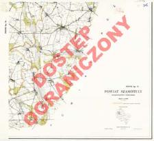 Powiat Szamotuły : województwo poznańskie : skala 1:25 000