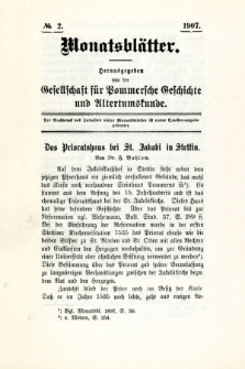 Monatsblätter Jhrg. 21, H. 2 (1907)
