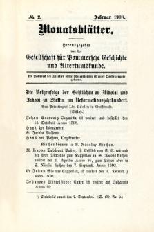 Monatsblätter Jhrg. 22, H. 2 (1908)