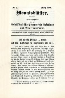 Monatsblätter Jhrg. 22, H. 3 (1908)