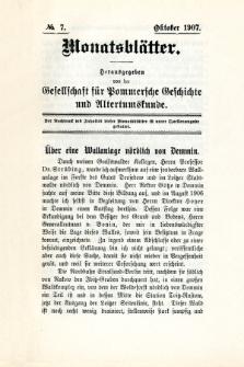 Monatsblätter Jhrg. 21, H. 7 (1907)