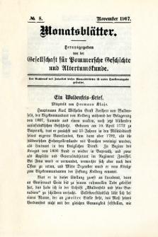 Monatsblätter Jhrg. 21, H. 8 (1907)