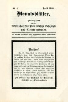 Monatsblätter Jhrg. 22, H. 4 (1908)