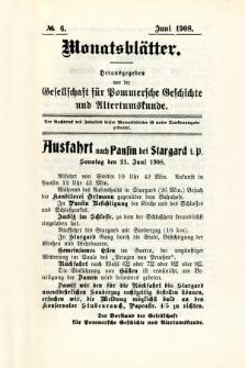 Monatsblätter Jhrg. 22, H. 6 (1908)