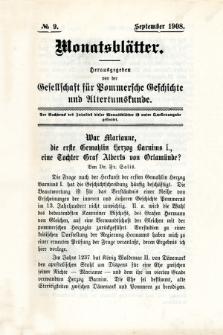 Monatsblätter Jhrg. 22, H. 9 (1908)