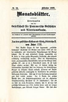 Monatsblätter Jhrg. 22, H. 10 (1908)