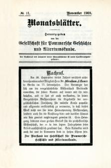 Monatsblätter Jhrg. 22, H. 11 (1908)
